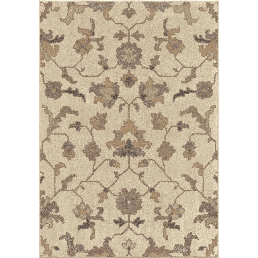 Orian Rugs Jamestown Ivory Rectangular Indoor Machine-made Nature Area Rug (Common: 8 x 11; Actual: 7.83-ft W x 10.83-ft L)