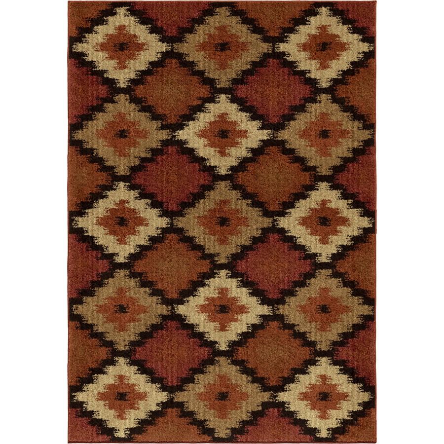 Orian Rugs Mayan Pyramid Multi Rectangular Indoor Machine-made Southwestern Area Rug (Common: 8 x 11; Actual: 7.83-ft W x 10.83-ft L)