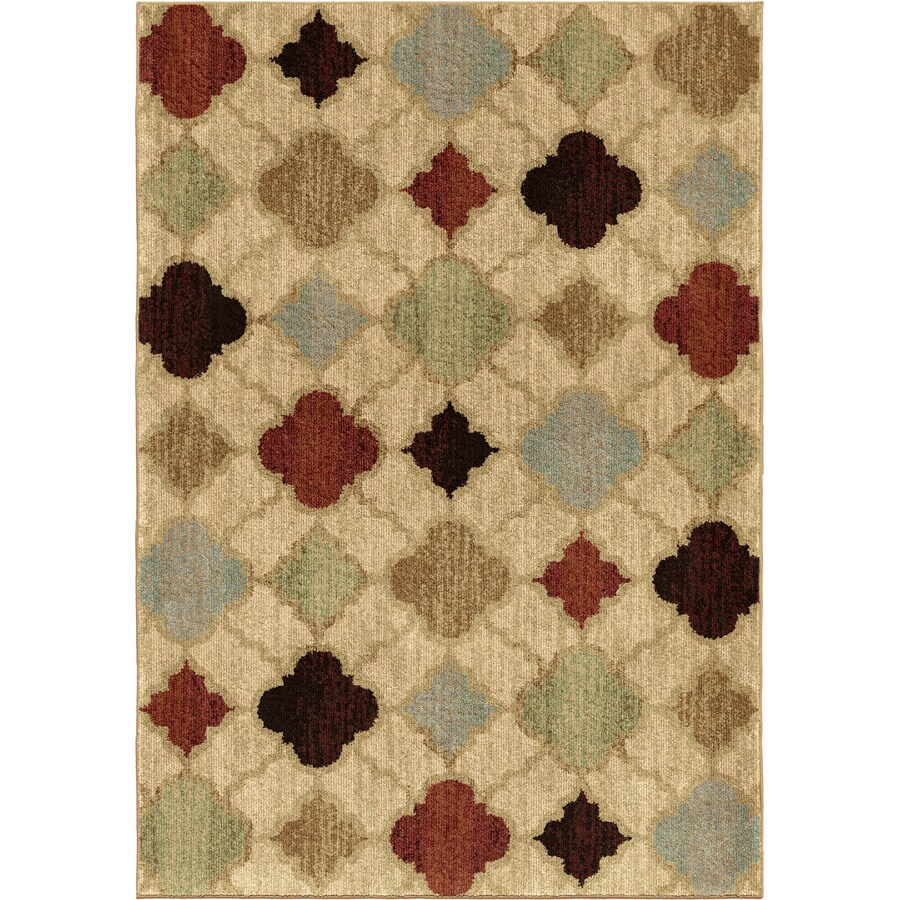 Orian Rugs Formosa Ivory Rectangular Indoor Machine-made Novelty Area Rug (Common: 5 x 8; Actual: 5.25-ft W x 7.5-ft L)
