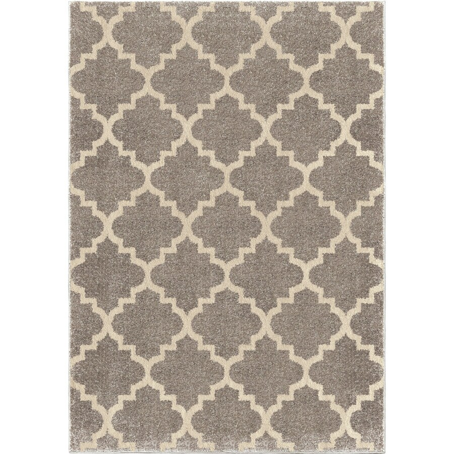 Orian Rugs Ginter Gray Indoor Novelty Area Rug (Common: 8 x 11; Actual: 7.83-ft W x 10.83-ft L)