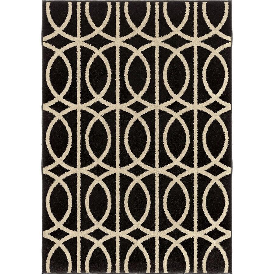 Orian Rugs Irvine Black Indoor Novelty Area Rug (Common: 8 x 11; Actual: 7.83-ft W x 10.83-ft L)
