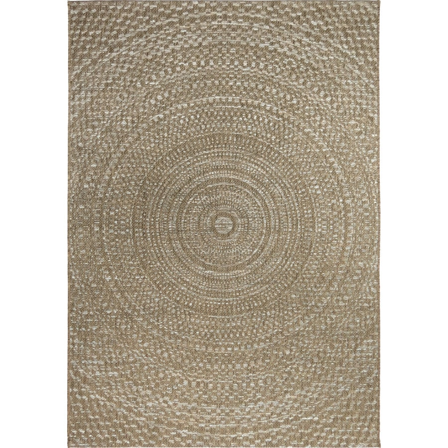 Orian Rugs Beachhouse Twirl Gray Indoor Outdoor Coastal Area Rug Common 5 X