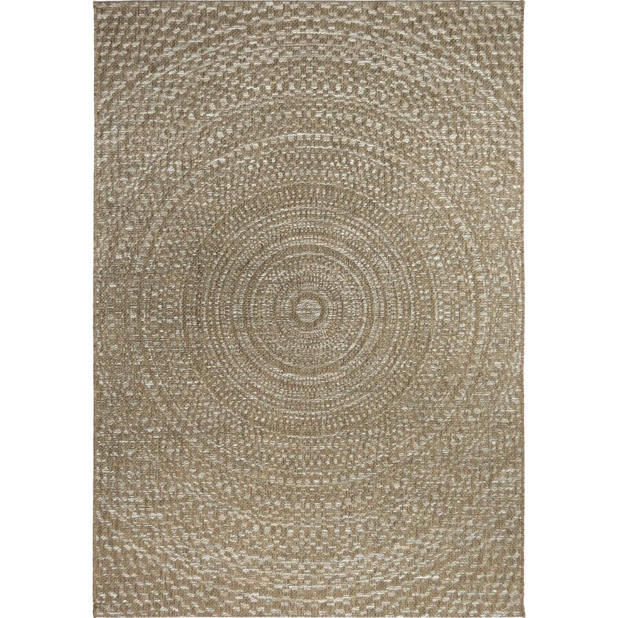 Orian Rugs Coastal Tides Gray Rectangular Indoor/Outdoor Machine-made Coastal Area Rug (Common: 5 x 8; Actual: 5.08-ft W x 7.5-ft L)