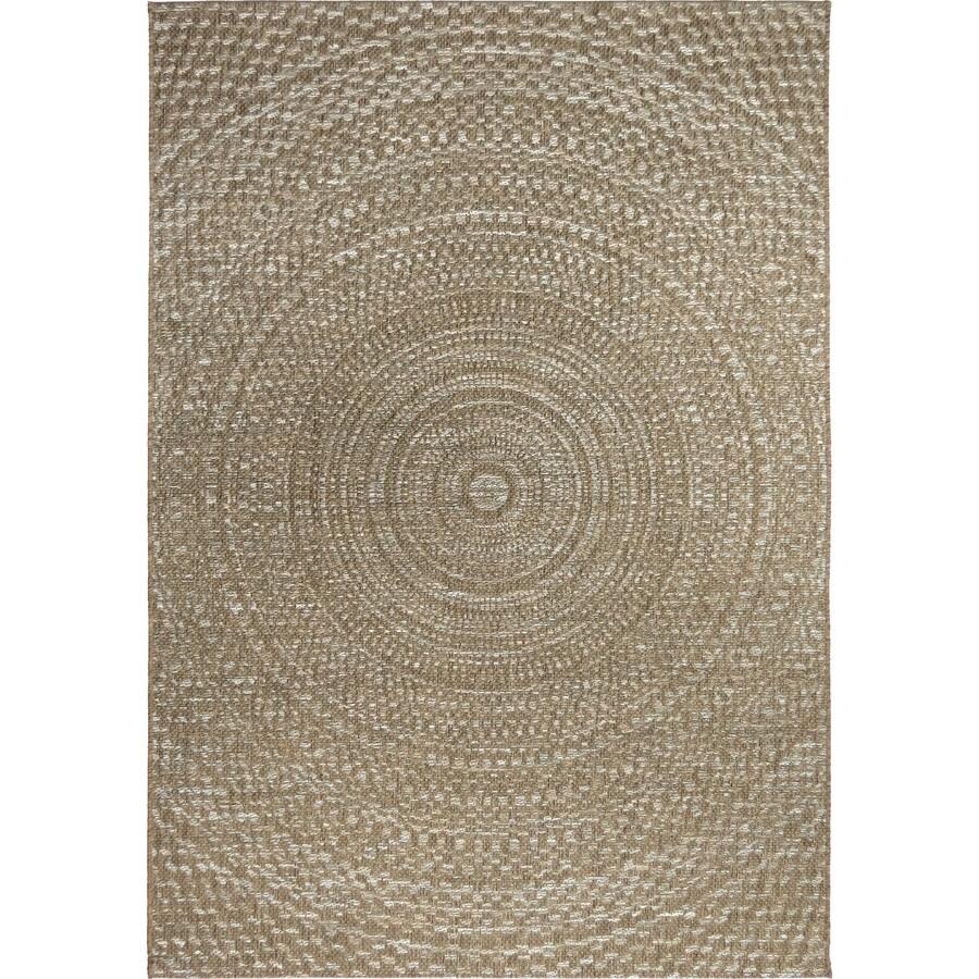 Orian Rugs Coastal Tides Gray Rectangular Indoor/Outdoor Machine-made Coastal Area Rug (Common: 8 x 11; Actual: 7.58-ft W x 10.83-ft L)