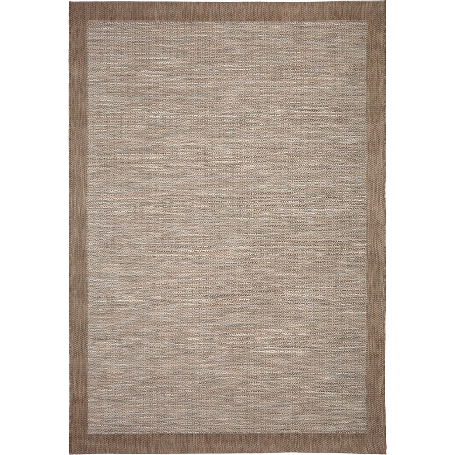 Orian Rugs Shoreline Bord Gray Rectangular Indoor/Outdoor Machine-made Coastal Area Rug (Common: 8 x 11; Actual: 7.58-ft W x 10.83-ft L)