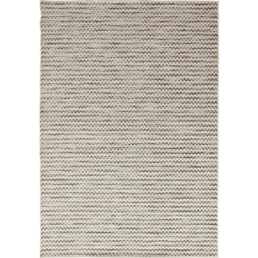 Orian Rugs Sandy Waves Ivory Rectangular Indoor/Outdoor Machine-made Coastal Area Rug (Common: 5 x 8; Actual: 5.08-ft W x 7.5-ft L)