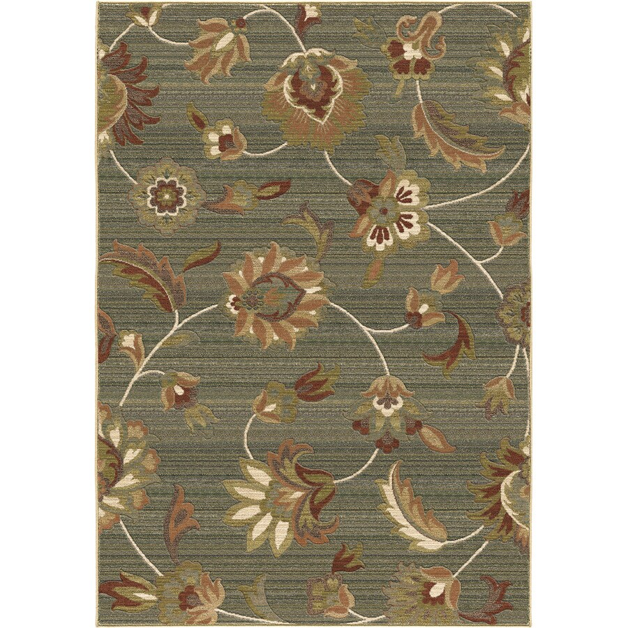 Orian Rugs Garden Story Blue Rectangular Indoor Machine-made Nature Area Rug (Common: 8 x 11; Actual: 7.83-ft W x 10.83-ft L)