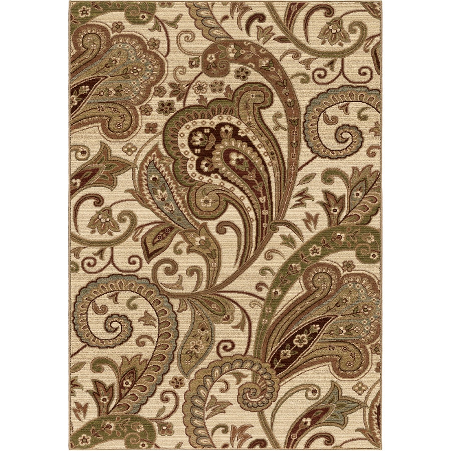 Orian Rugs Hawthorn Beige Rectangular Indoor Machine-made Nature Area Rug (Common: 8 x 11; Actual: 7.83-ft W x 10.83-ft L)