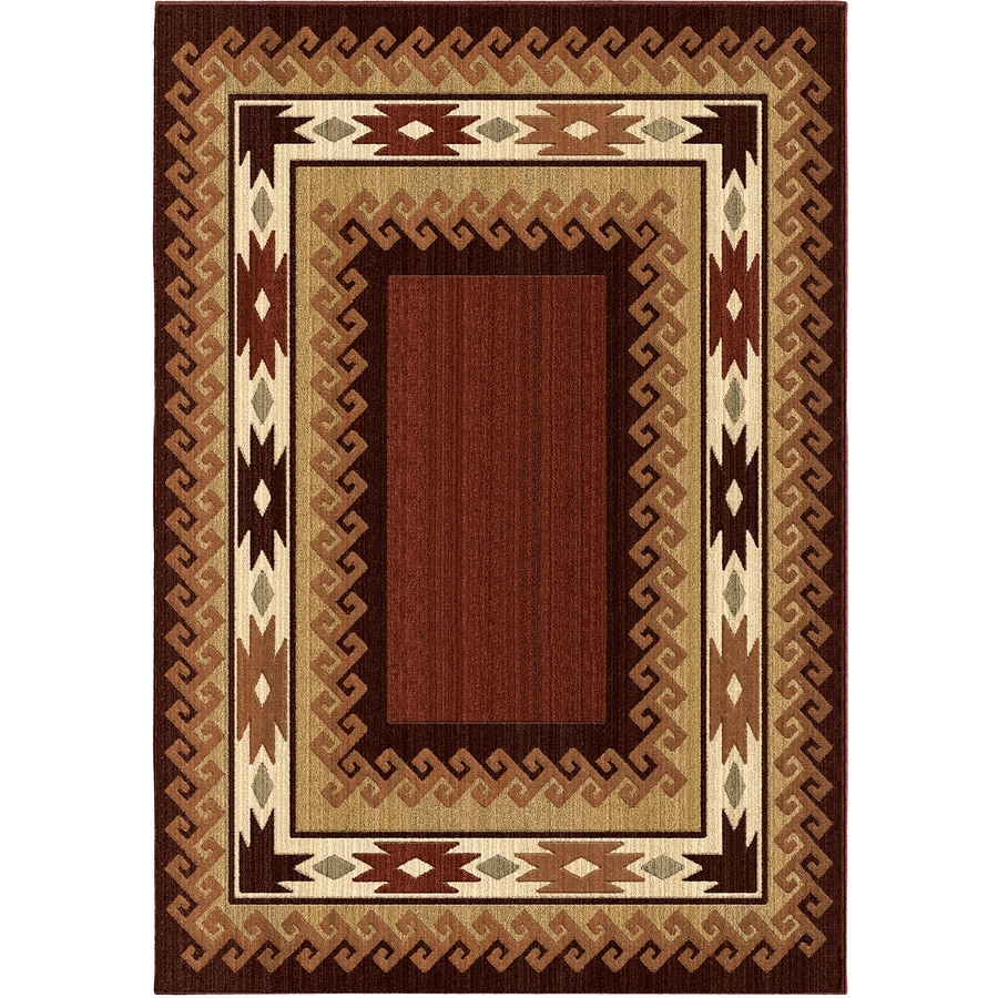 Orian Rugs Glenwood Brown Rectangular Indoor Machine-made Southwestern Area Rug (Common: 5 x 8; Actual: 5.25-ft W x 7.5-ft L)