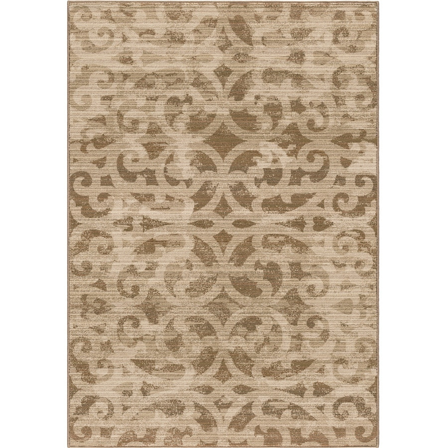 Orian Rugs Chester Beige Rectangular Indoor Machine-made Novelty Area Rug (Common: 8 x 11; Actual: 7.83-ft W x 10.83-ft L)