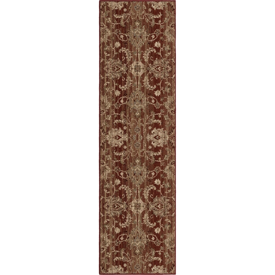 Orian Rugs Stoke Red Rectangular Indoor Machine-made Nature Runner (Common: 2 x 8; Actual: 2.25-ft W x 8-ft L)