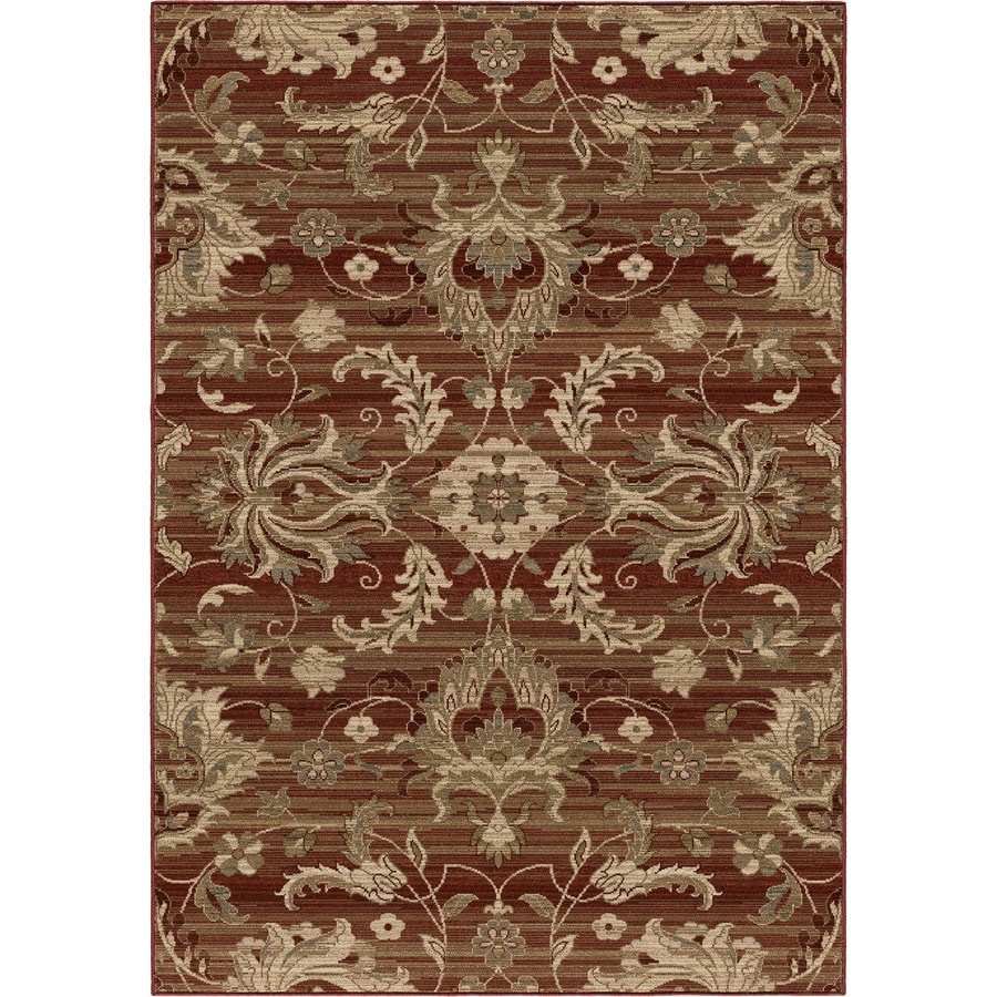Orian Rugs Stoke Red Rectangular Indoor Machine-made Nature Area Rug (Common: 8 x 11; Actual: 7.83-ft W x 10.83-ft L)