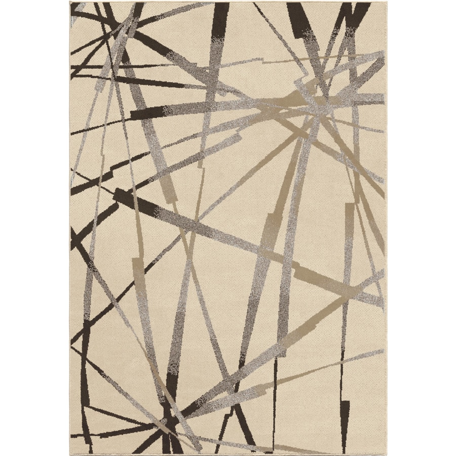 Orian Rugs Stormy Ivory Indoor Novelty Area Rug (Common: 5 x 8; Actual: 5.25-ft W x 7.5-ft L)