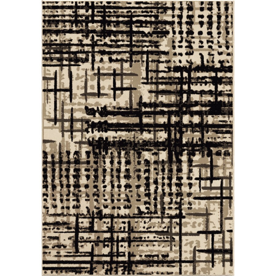 Orian Rugs Czech Brown Rectangular Indoor Machine-made Novelty Area Rug (Common: 5 x 8; Actual: 5.25-ft W x 7.5-ft L)