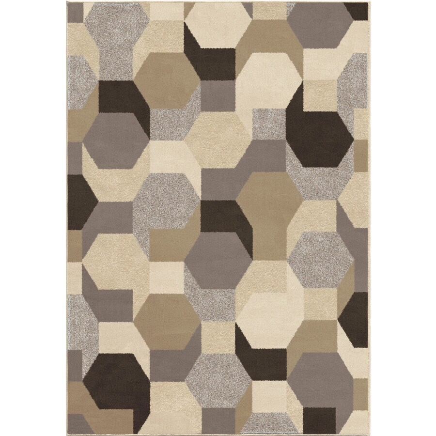 Orian Rugs Oasis Ivory Indoor Novelty Area Rug (Common: 8 x 11; Actual: 7.83-ft W x 10.83-ft L)