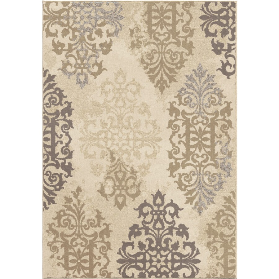Orian Rugs Roselle Ivory Rectangular Indoor Machine-made Novelty Area Rug (Common: 5 x 8; Actual: 5.25-ft W x 7.5-ft L)