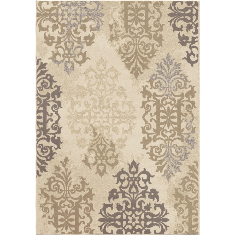 Orian Rugs Roselle Ivory Rectangular Indoor Machine-made Novelty Area Rug (Common: 8 x 11; Actual: 7.83-ft W x 10.83-ft L)