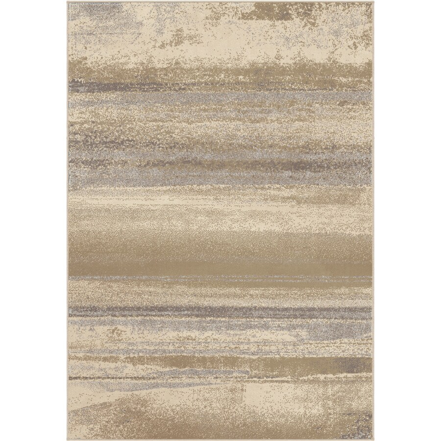 Orian Rugs Alta Ivory Rectangular Indoor Machine-made Novelty Area Rug (Common: 5 x 8; Actual: 5.25-ft W x 7.5-ft L)