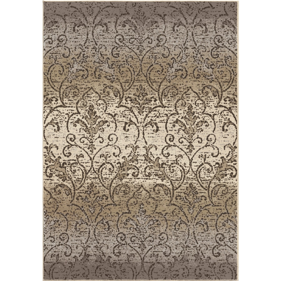 Orian Rugs Vinta Gray Rectangular Indoor Machine-made Nature Area Rug (Common: 8 x 11; Actual: 7.83-ft W x 10.5-ft L)