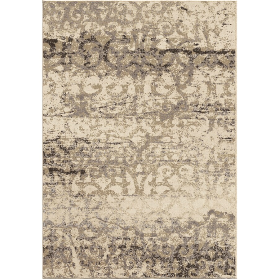 Orian Rugs Classic Port Ivory Rectangular Indoor Machine-made Novelty Area Rug (Common: 5 x 8; Actual: 5.25-ft W x 7.5-ft L)