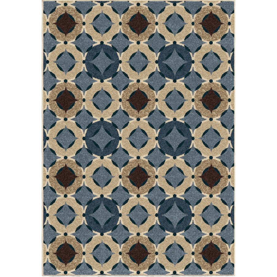 Orian Rugs Imola Blue Indoor/Outdoor Novelty Area Rug (Common: 5 x 8; Actual: 5.17-ft W x 7.5-ft L)