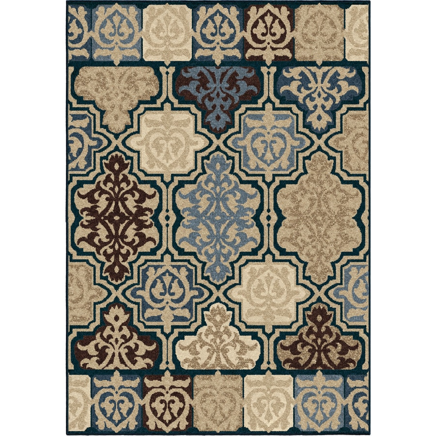 Orian Rugs Artessa Blue Rectangular Indoor/Outdoor Machine-made Novelty Area Rug (Common: 8 x 11; Actual: 7.67-ft W x 10.83-ft L)