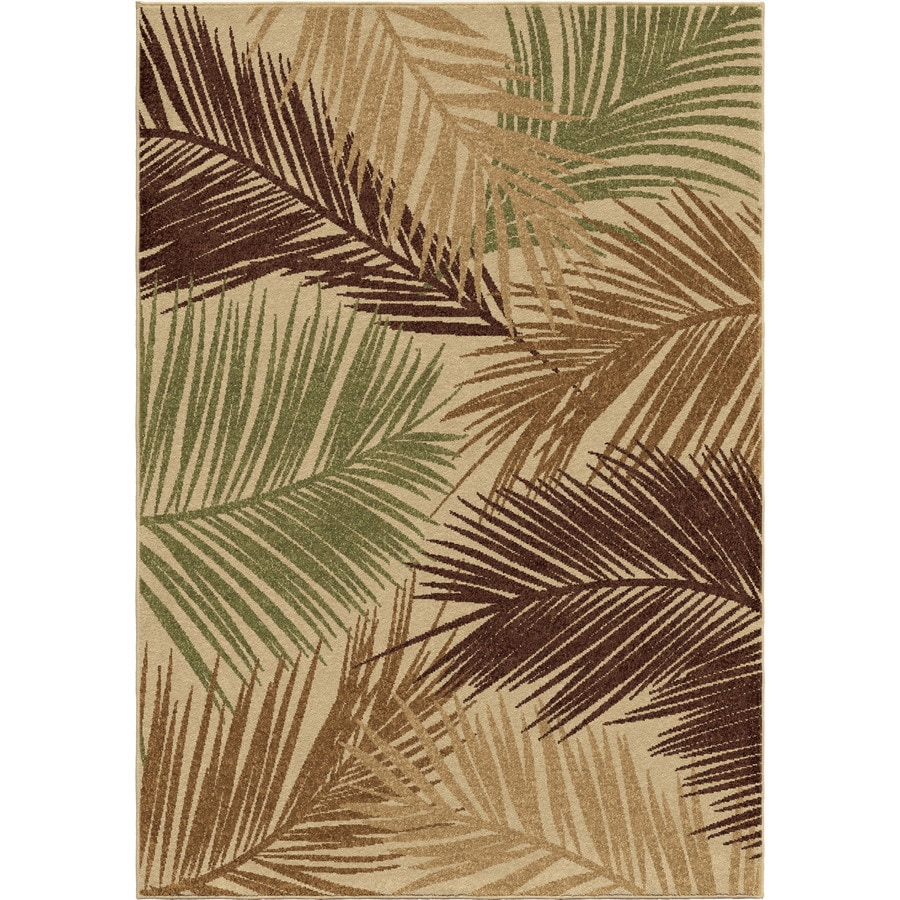 Orian Rugs Island Breeze Multi Rectangular Indoor/Outdoor Machine-made Nature Area Rug (Common: 5 x 8; Actual: 5.17-ft W x 7.5-ft L)