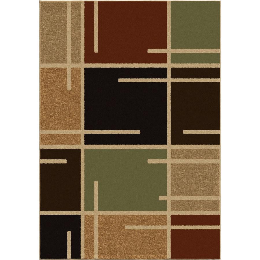 Orian Rugs Petaluma Brown Indoor/Outdoor Novelty Area Rug (Common: 5 x 8; Actual: 5.17-ft W x 7.5-ft L)