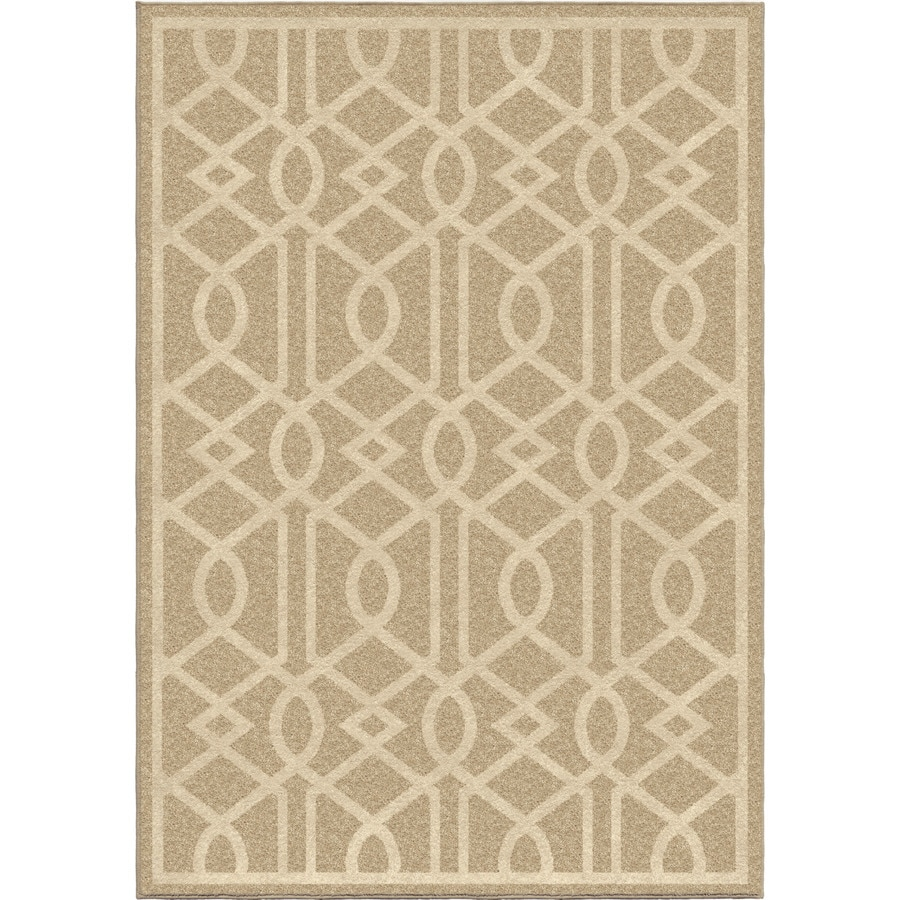 Orian Rugs Shafer Beige Rectangular Indoor/Outdoor Machine-made Novelty Area Rug (Common: 5 x 8; Actual: 5.17-ft W x 7.5-ft L)