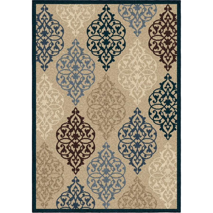 Orian Rugs Kenwood Ivory Rectangular Indoor/Outdoor Machine-made Nature Area Rug (Common: 5 x 8; Actual: 5.17-ft W x 7.5-ft L)