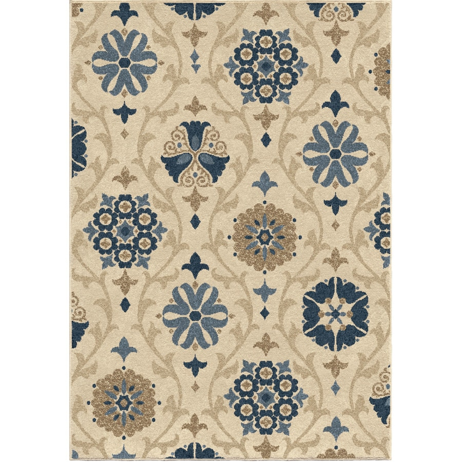 Orian Rugs Indio Ivory Rectangular Indoor/Outdoor Machine-made Nature Area Rug (Common: 5 x 8; Actual: 5.17-ft W x 7.5-ft L)