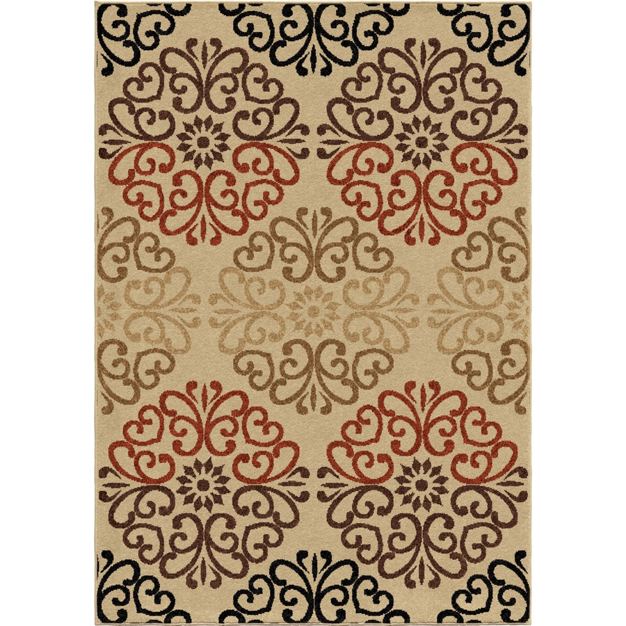 Orian Rugs Creston Ivory Indoor/Outdoor Nature Area Rug (Common: 8 x 11; Actual: 7.67-ft W x 10.83-ft L)