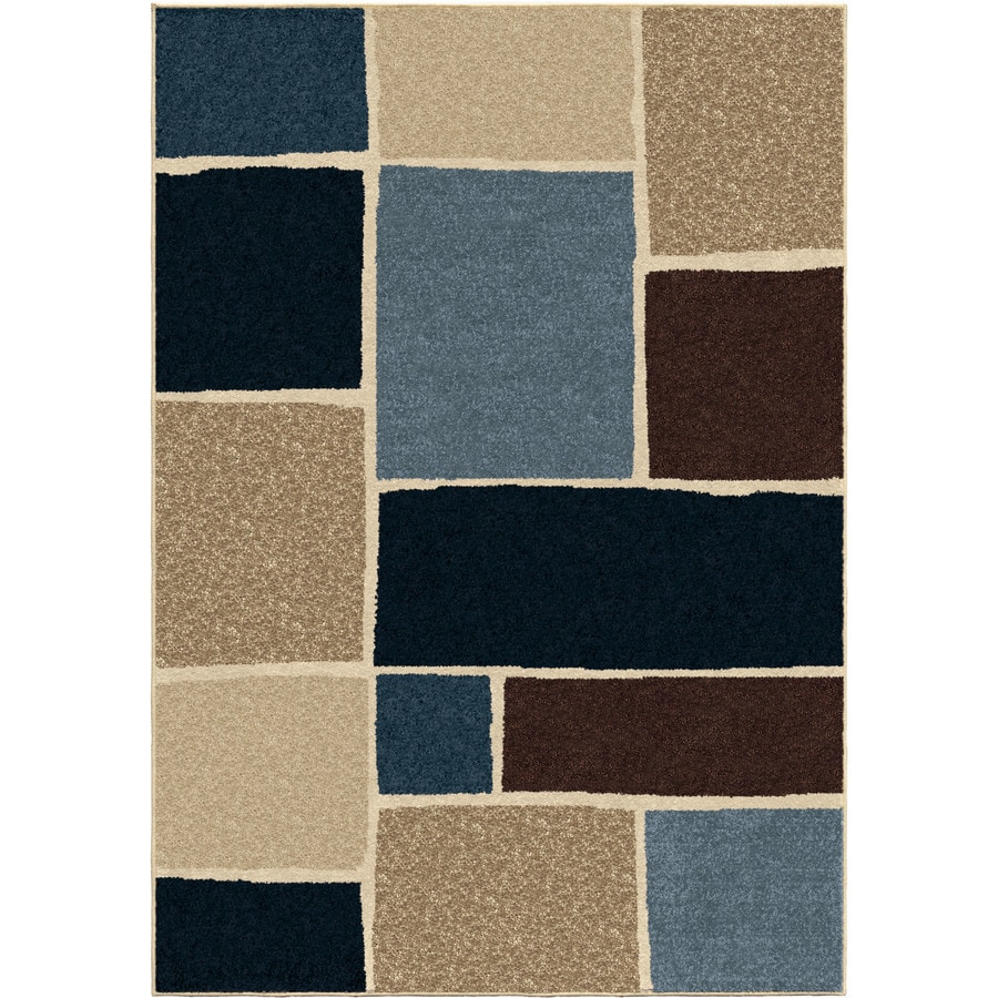 Orian Rugs Atlas Multi Rectangular Indoor/Outdoor Machine-made Novelty Area Rug (Common: 5 x 8; Actual: 5.17-ft W x 7.5-ft L)