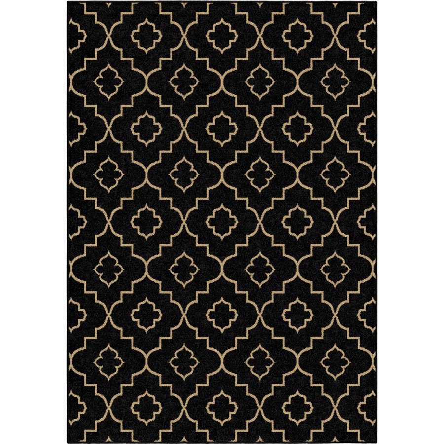 Orian Rugs Garden Gate Brown Rectangular Indoor/Outdoor Machine-made Novelty Area Rug (Common: 5 x 8; Actual: 5.17-ft W x 7.5-ft L)