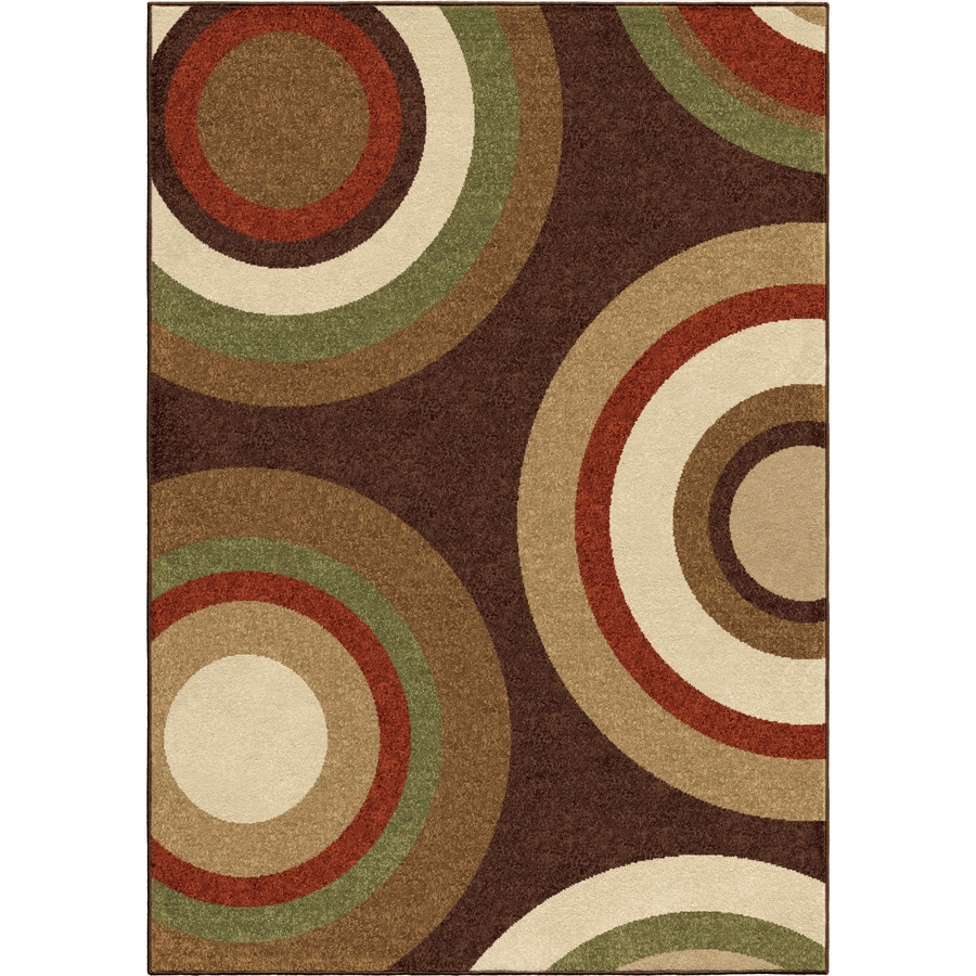 Orian Rugs Sequoia Brown Rectangular Indoor/Outdoor Machine-made Novelty Area Rug (Common: 8 x 11; Actual: 7.67-ft W x 10.83-ft L)