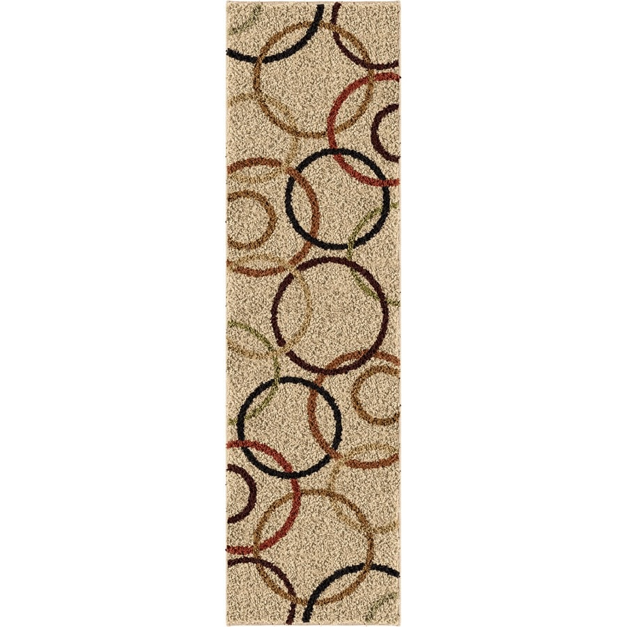 Orian Rugs Circle of Life Bisque Rectangular Indoor Machine-made Novelty Runner (Common: 2 x 8; Actual: 2.25-ft W x 8-ft L)