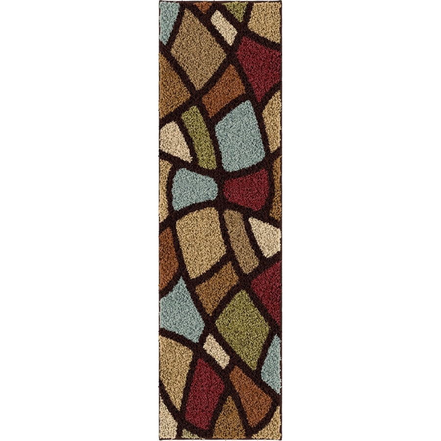 Orian Rugs Oval Day Brown Rectangular Indoor Machine-made Novelty Runner (Common: 2 x 8; Actual: 2.25-ft W x 8-ft L)