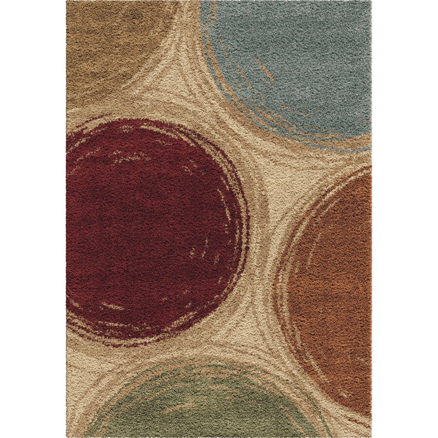 Orian Rugs Traced Spheres Multi Rectangular Indoor Machine-made Novelty Area Rug (Common: 8 x 11; Actual: 7.83-ft W x 10.83-ft L)