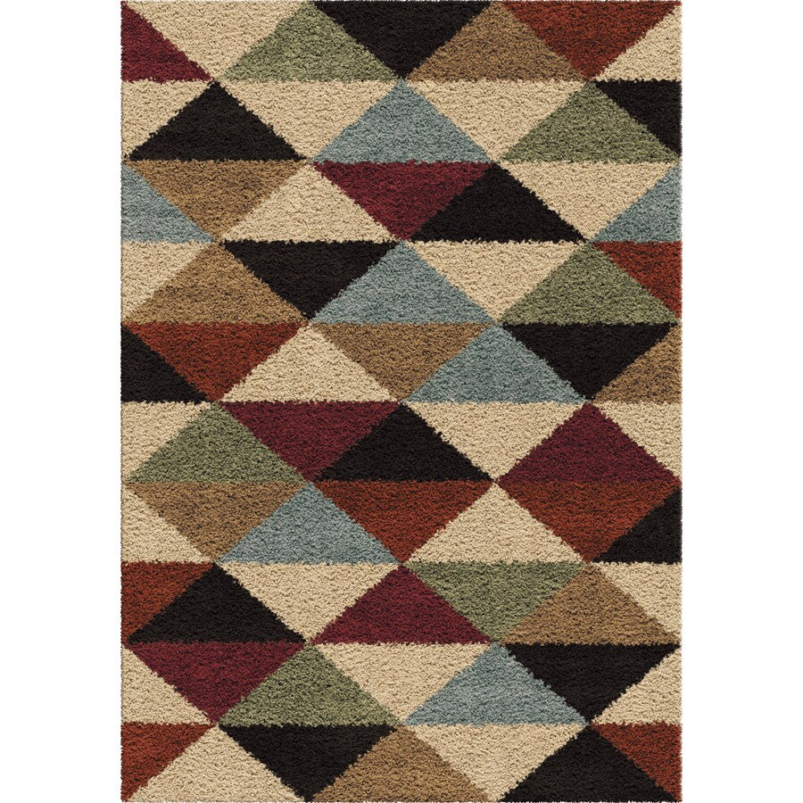 Orian Rugs Perez Multi Rectangular Indoor Machine-made Novelty Area Rug (Common: 5 x 8; Actual: 5.25-ft W x 7.5-ft L)