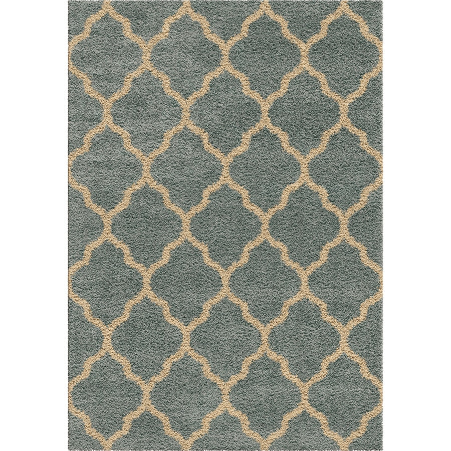 Orian Rugs Pasture Blue Rectangular Indoor Machine-made Novelty Area Rug (Common: 8 x 11; Actual: 7.83-ft W x 10.83-ft L)