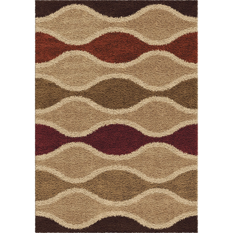 Orian Rugs Rowing Waves Multi Rectangular Indoor Machine-made Novelty Area Rug (Common: 5 x 8; Actual: 5.25-ft W x 7.5-ft L)