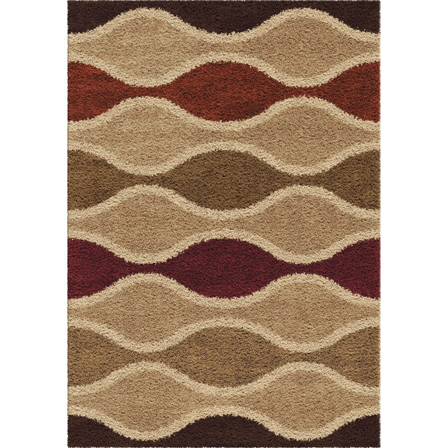 Orian Rugs Rowing Waves Multi Rectangular Indoor Machine-made Novelty Area Rug (Common: 8 x 11; Actual: 7.83-ft W x 10.83-ft L)