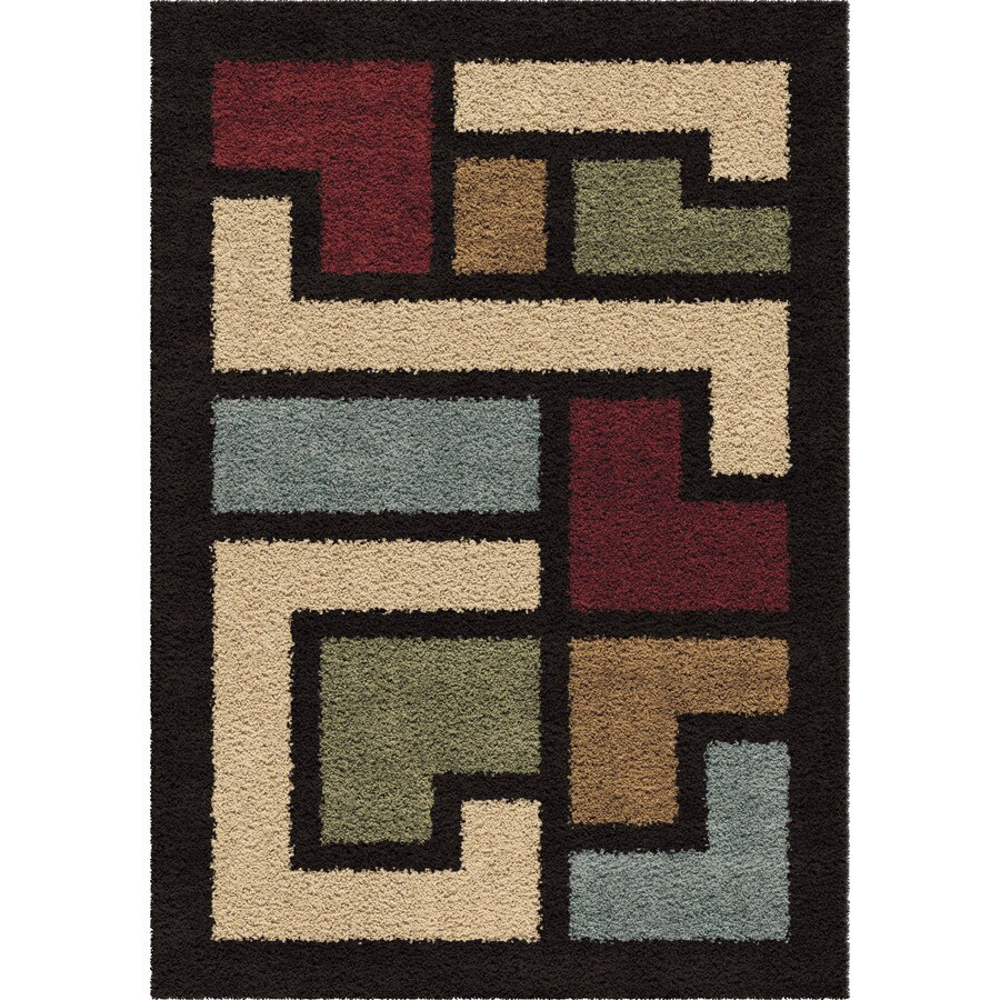 Orian Rugs Mapped Floor Multi Rectangular Indoor Machine-made Novelty Area Rug (Common: 5 x 8; Actual: 5.25-ft W x 7.5-ft L)