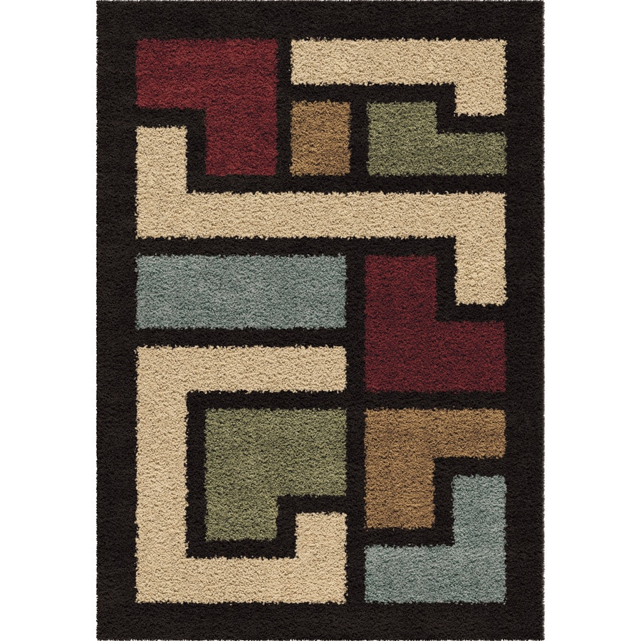 Orian Rugs Oasis Shag Multi Rectangular Indoor Machine-made Novelty Area Rug (Common: 8 x 11; Actual: 7.83-ft W x 10.83-ft L)
