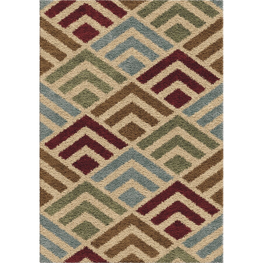 Orian Rugs Natica Multi Rectangular Indoor Machine-made Novelty Area Rug (Common: 8 x 11; Actual: 7.83-ft W x 10.83-ft L)