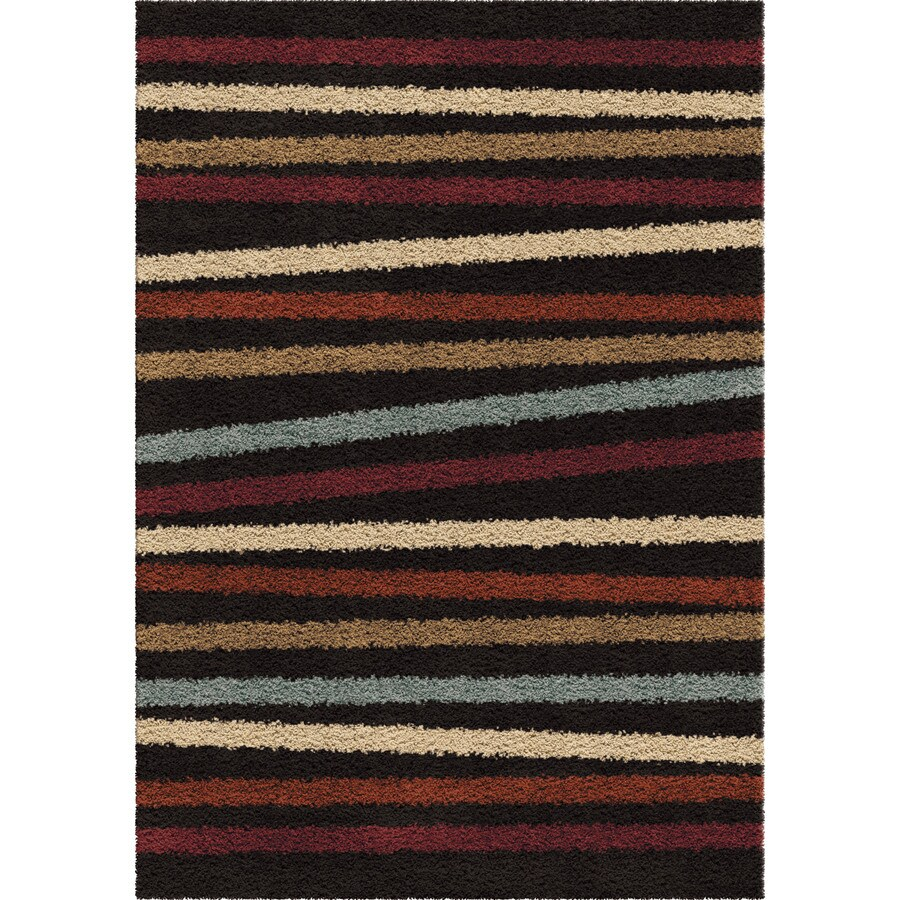 Orian Rugs Ribbon Show Multi Rectangular Indoor Machine-made Novelty Area Rug (Common: 8 x 11; Actual: 7.83-ft W x 10.83-ft L)