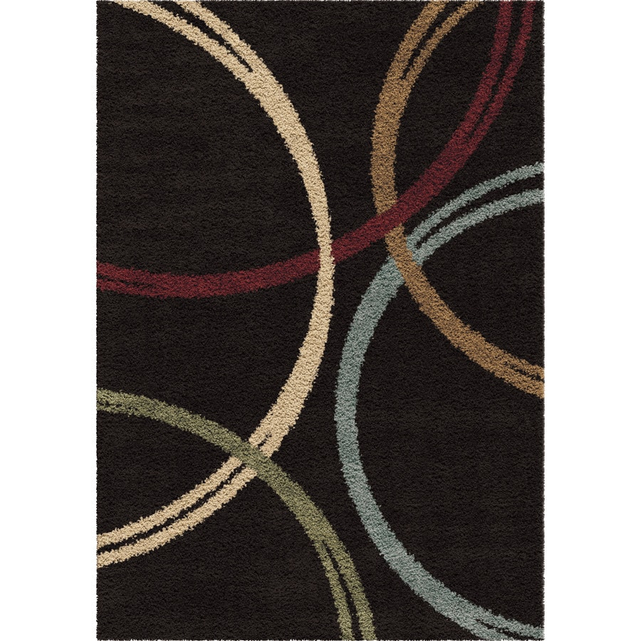 Orian Rugs Wanstead Black Rectangular Indoor Machine-made Novelty Area Rug (Common: 5 x 8; Actual: 5.25-ft W x 7.5-ft L)