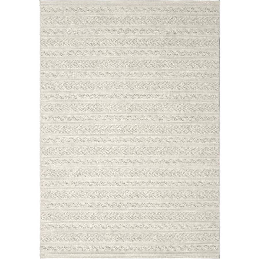 Orian Rugs Twisted Sand Ivory Rectangular Indoor/Outdoor Machine-made Coastal Area Rug (Common: 5 x 8; Actual: 5.08-ft W x 7.5-ft L)