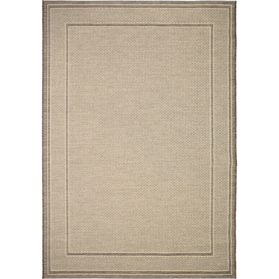 Orian Rugs Off the Coast Beige Rectangular Indoor/Outdoor Machine-made Coastal Area Rug (Common: 5 x 8; Actual: 5.08-ft W x 7.5-ft L)