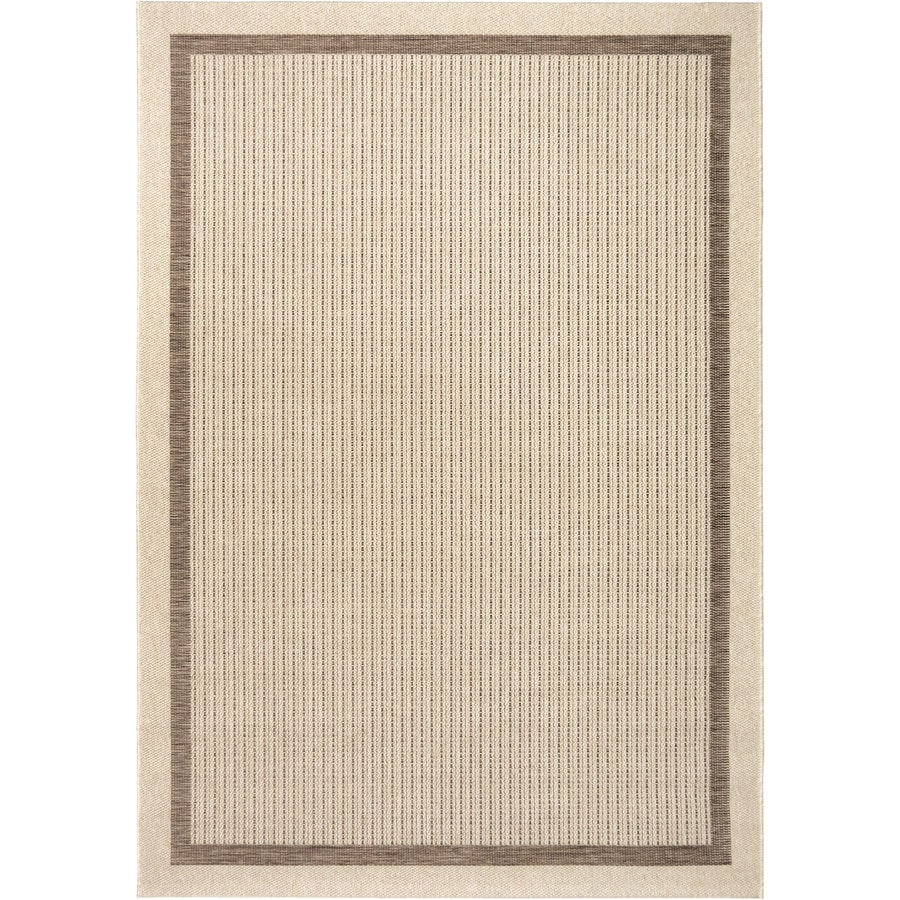Orian Rugs Salty Coast Tan Rectangular Indoor/Outdoor Machine-made Coastal Area Rug (Common: 8 x 11; Actual: 7.58-ft W x 10.83-ft L)